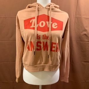 ❤️EUC❤️ 'Love Is The Answer' Cropped Hoodie